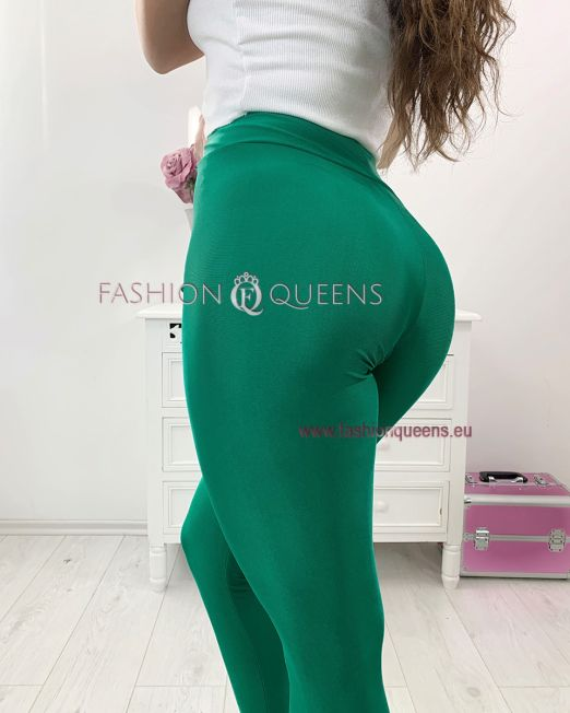 May High Waist Push Up Leggings Green