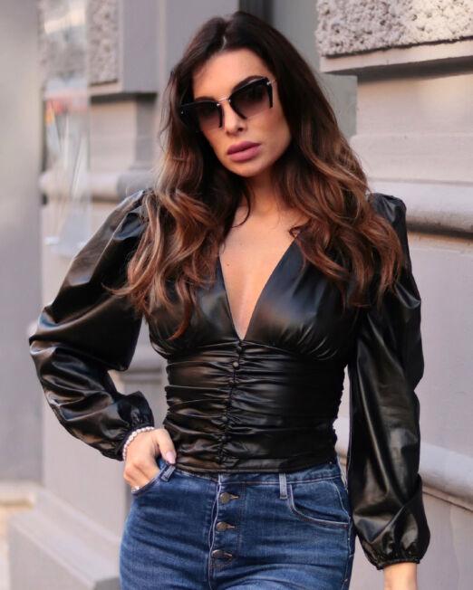 Lisbeth Shirt Faux Leather (1)