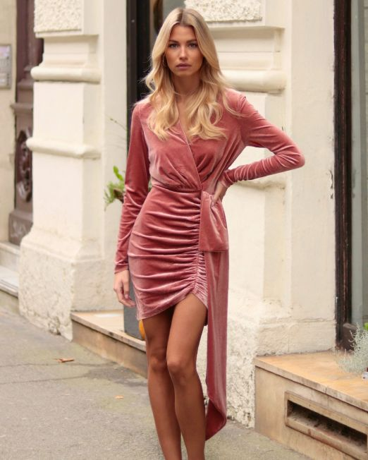 Lorena Salmon Pink Dress (1)