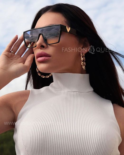 Over Sized Flat Top Sunglasses (2)