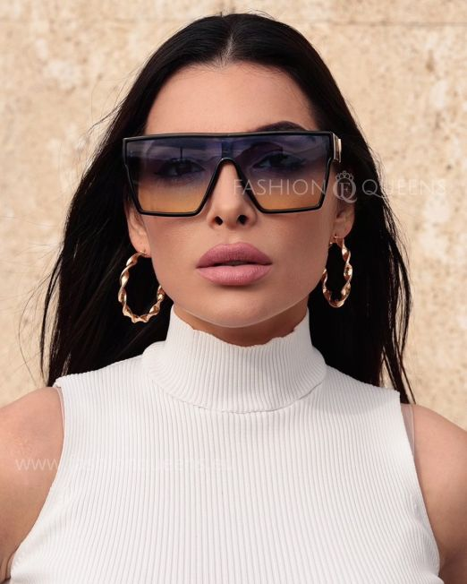 Over Sized Flat Top Sunglasses (7)