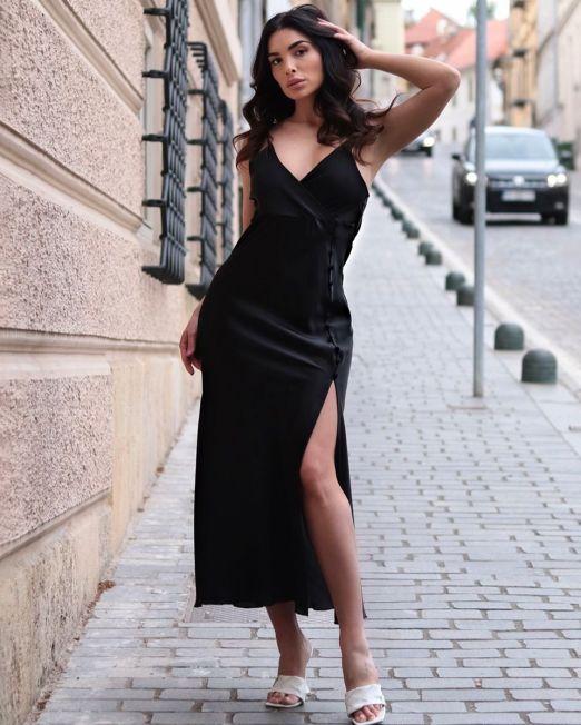 Sofia Extreme Split Strappy Maxi Dress (10)
