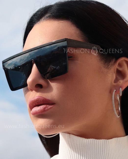 Spektre Metro Flat Top Sunglasses with Black Frame Black Glass (3)