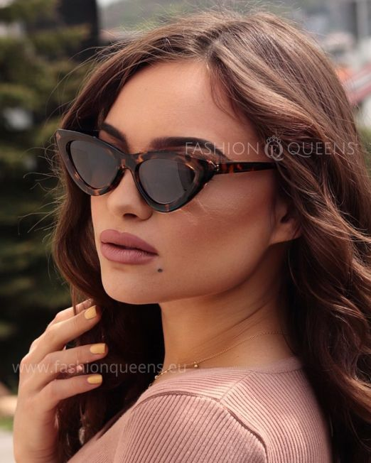 Taylor Vintage 65's Cateye Sunglasses with Tortoise Frame Brown Lens (7)