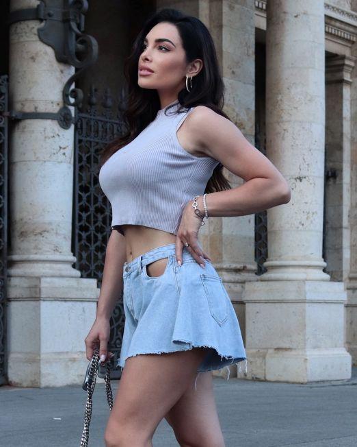 Alba – Ripped Denim Wide-leg Shorts (2)