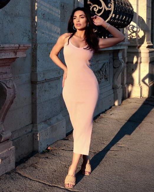 Micol Bodycon Ribbed Dress (3)