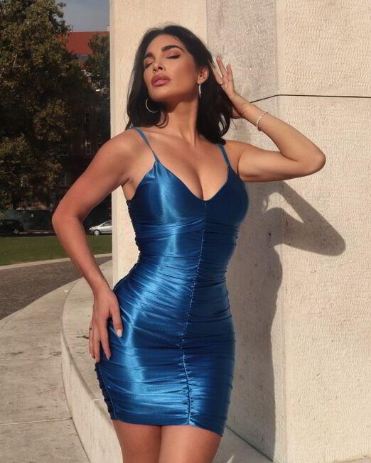 Ruby Shape Up Stretch Satin Bodycon Mini Dress (3)